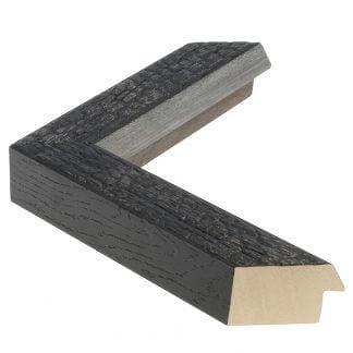 Carbon zwart verbrand hout 38 mm