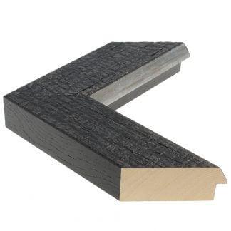 Carbon zwart verbrand hout breed