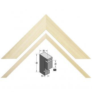 Barth Boxframe 820777 blank populier